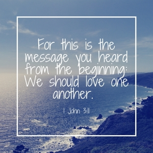 1Jn311-love one another.